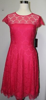 C Xs Allover Lace Fit Flare Dress