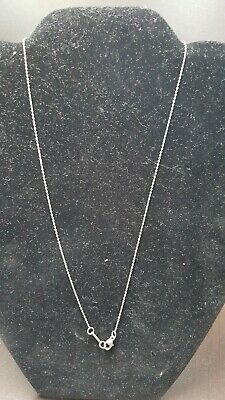 ecfa8d621 TIFFANY & CO signed thin dainty sterling silver necklace 16 inch ...