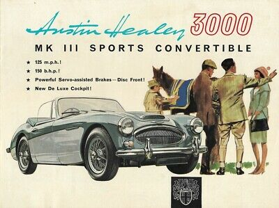 "AUSTIN HEALEY ""3000"" MK III Sports Convertible - 1966 - British sales catalogue"