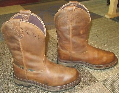 d18943db6a387 Mens ARIAT Conquest Waterproof 400g Soft Toe Leather Hunting Boots sz 8.5 D
