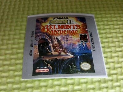 Label / Sticker For Nintendo Gameboy Game Boy Castlevania Ii Belmont's Revenge