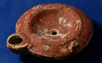Roman Red Slip Terracotta Oil Lamp 2- 3 Century AD. From Old Collection.