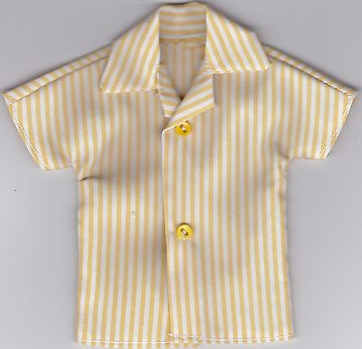 Homemade Doll Clothes-COOL Faded Red and White Print Shirt fits Ken Doll B7