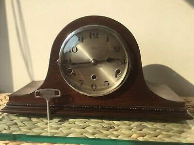 English Norland 8 Day Westminster Chime Mantel Clock, Serviced, Signed Cope & Co