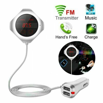 Magnetic Bluetooth Car FM Transmitter MP3 Player 2 USB Charger Hands Free Call
