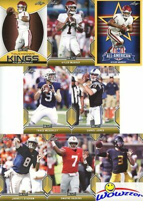 2019 Leaf Draft Football Complete 103 Card GOLD PARALLEL ROOKIE Set-KYLER MURRAY