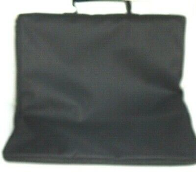"Portfolio Artist Black Canvas Carry Case 17"" x 17"" Zips from Bottom NEW"