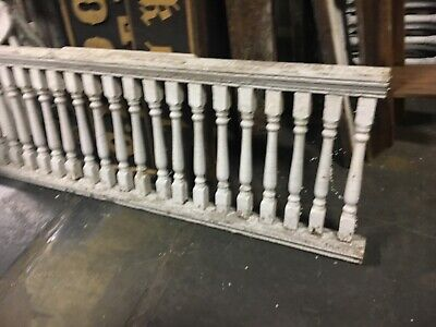 """lot of c1900 porch railing balustrade Victorian balusters 4 sections 26"""" h x 4""""w"""