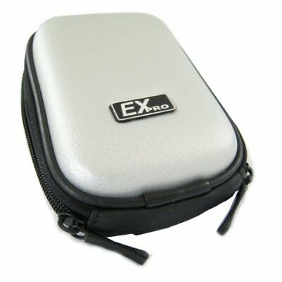 Ex-Pro® Silver Hard Clam Camera Case for Nikon Coolpix S203 S210 S220