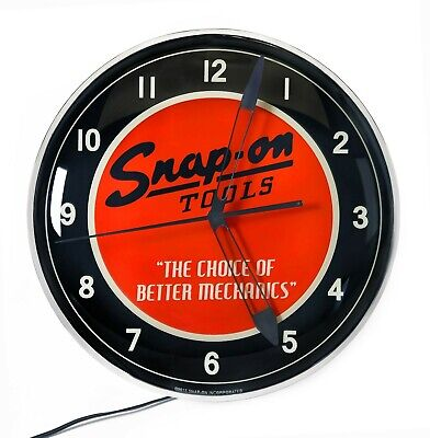 """Snap-on Tools 15"""" Backlit LED Collectible Vintage Clock for Home or Garage"""