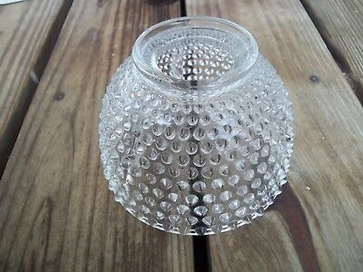Vintage Clear Glass Hobnail Lamp Shade Victorian Dome 3 Interior Ribs