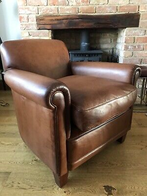 Laura Ashley Burlington Distressed Leather Armchair