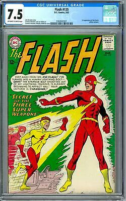 Flash #135 CGC 7.5 (OW) 1st Appearance of Kid Flash Yellow Costume