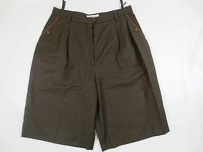 Divided Skirt Costume Trousers Traditional Hirsch 44 Dark Brown Green Tip Top/