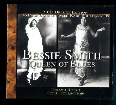 BESSIE SMITH / The Gold Collection / Queen of the Blues 2 GOLD CDS 20Pg Bkt MINT