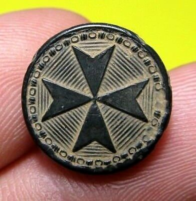 Authentic Medieval Knights Templar Cross Button European Crusader Times