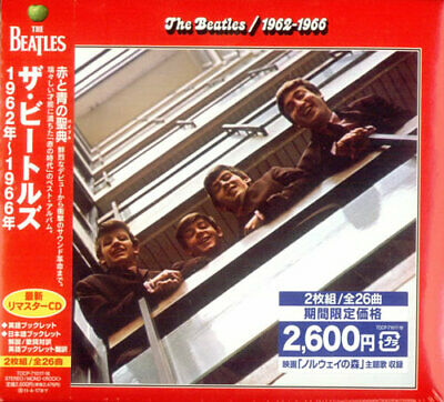 1962-1966 [The Red Album] Beatles Japanese 2 CD album (Double CD) TOCP-71017