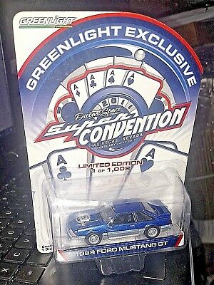 Greenlight 1988 Ford Mustang fox body Diecast Super Convention uth exclusive 007