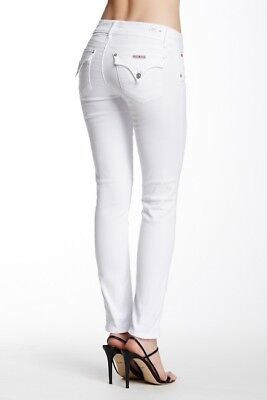 cd823e70eec NEW ! NWT HUDSON Jeans Collin Ankle Skinny Jeans Distressed White Wash Size  25