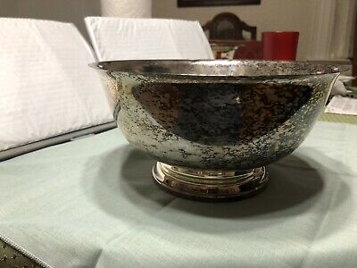"""Paul Revere Vintage Silver Plated Bowl 9"""""""