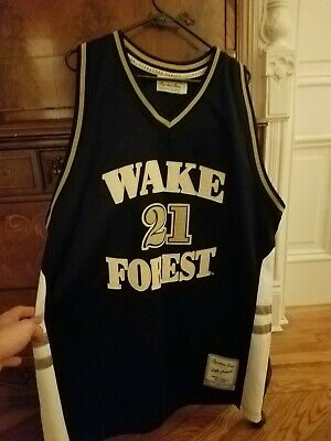 3a9a58722 Tim Duncan Wake Forest Basketball Jersey Size 56 Sewn On Signature Series  Ncaa