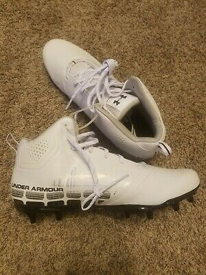 0014ac6aed43 Under Armour Banshee Ripshot MC Men's Lacrosse Cleat 1297352-101 Size 11.5