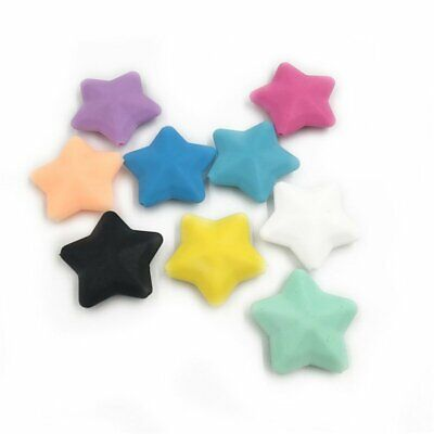 5Pcs Star Shape DIY Silicone Chewable Teething Teether Baby Necklace BPA Free TU