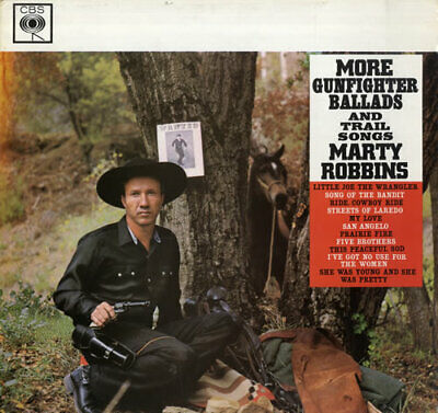 Marty Robbins More Gunfighter Ballads And Trail Songs vinyl LP album record UK
