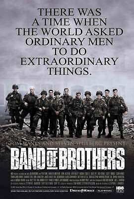 Band-of-Brothers-2001-Movie Fabric Poster Art decor 24x36 12x18 room decor