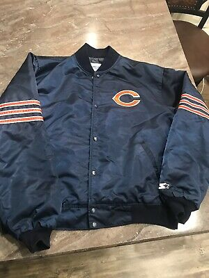 9b22cf4dbbb Vtg Chicago Bears Starter full snap front satin Jacket XXL NFL Ditka USA