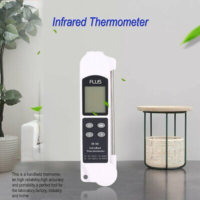 FLUS IR-90 Digital 2 in 1 IR Contact Infrared Thermometer Temperature Meter DR