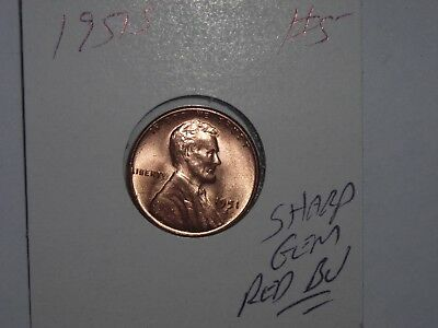 wheat penny 1951S LINCOLN CENT GEM RED BU 1951-S LOT #5  SHARP RED UNC LUSTER