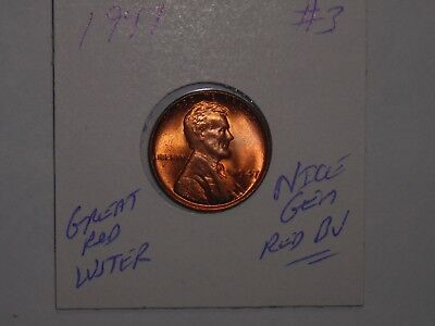 wheat penny 1947 LINCOLN CENT GEM RED BU 1947-P LOT #3 SHARP RED UNC LUSTER