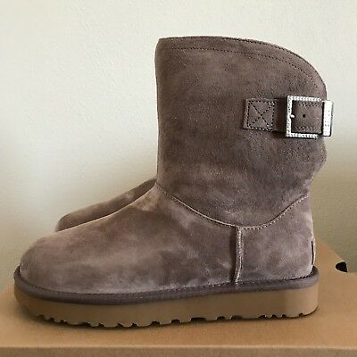 6f8d52adc1a UGG WOMENS BOOTS 8 11 Remora Buckle Chestnut Suede NEW uggs ...