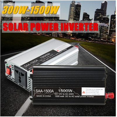 12V DC 300-1500W Modified Sine Wave Peak Solar Power Inverter AC Car Converter