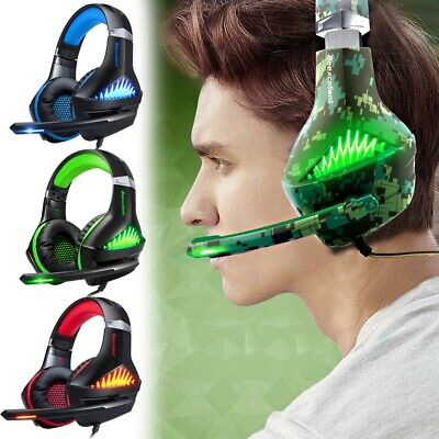 3.5mm Gaming Headset with Mic LED Lights for Playstation 4, Xbox one, Laptop, PC