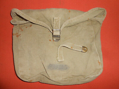 U.S.ARMY : WWII era M1928 CANVAS HAVERSACK MESS KIT MEAT CAN POUCH used