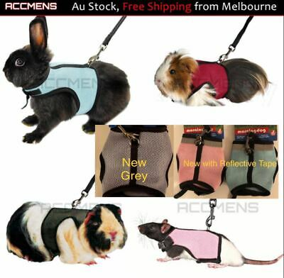 Small Animal Harness And Leash Guinea Pig Forret Hamster Rabbit Squirrel Vest AU
