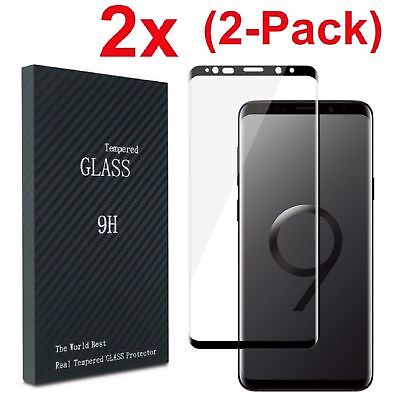 For Samsung Galaxy S9 S8 Note 9 4D Full Cover Tempered Glass Screen Protector SQ
