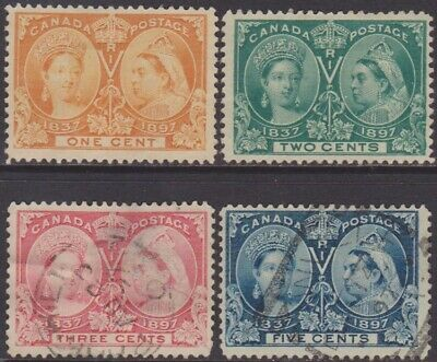 Canada QV 1897 Jubilee Commemorative 1c-5c MNG & Used Stamps SG122/128 range