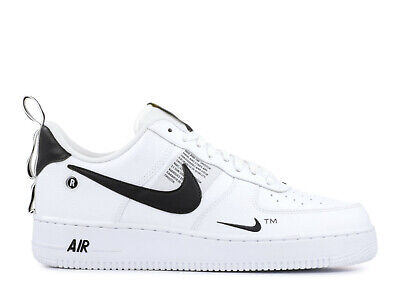 Nike Air Force 1 07 LV8 Utility White Black Uomo Donna Scarpe Shoes AJ7747 100