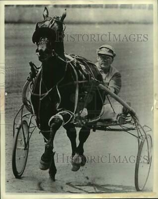 1972 Press Photo Salem Champion Pace Favorite Tarport Adios With Delvin Miller
