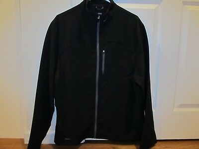 a0c1b3bdd NIKE BLACK WHITE Striped Full Zip Warm Up Track Jacket Coat Size ...