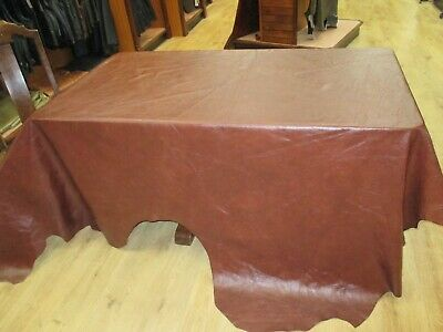 Leather HUGE Hide FAB.Col. CONKER BEAUTIFUL WAXY Finish SCO 409 FREE P&P £89.99