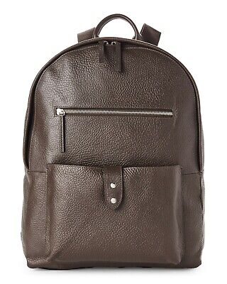 8f7a802a4e9e9e New with Tag - $398 Cole Haan Saunders Java Leather Zip Top Backpack