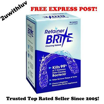 Retainer Brite 3 Month Supply 96 Cleaning Tablets *Free Express Post*