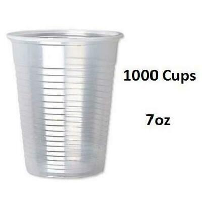 1000 Plastic Disposable Cups Clear Water Cups Strong Drinking Tumbler Glasses UK