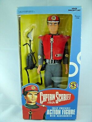"""Vivid Imaginations Captain Scarlet Fully Poseable 12"""" Figure Boxed"""