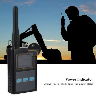 LCD Digital Frequency Meter Counter UHF Antenna USB Tester for Ham Walkie Talkie