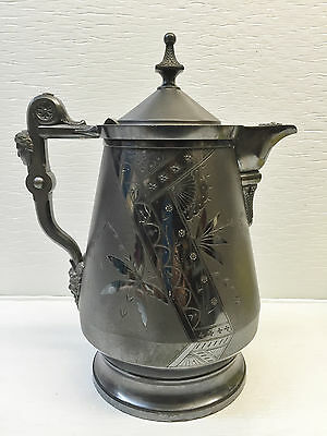 "Rogers Smith & Co Silver Tankard Pitcher 14"" ANTIQUE 1868"